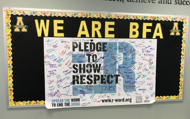 One+of+BFA%27s+%22Pledge+to+Show+Respect%22+posters