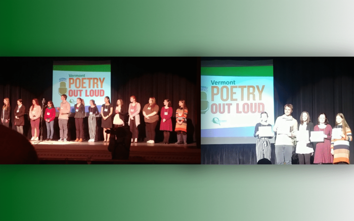 Sparrow flies high in Poetry Out Loud