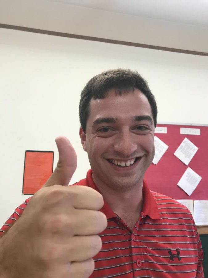Cameron Caforia, a new face in BFA's Math Department