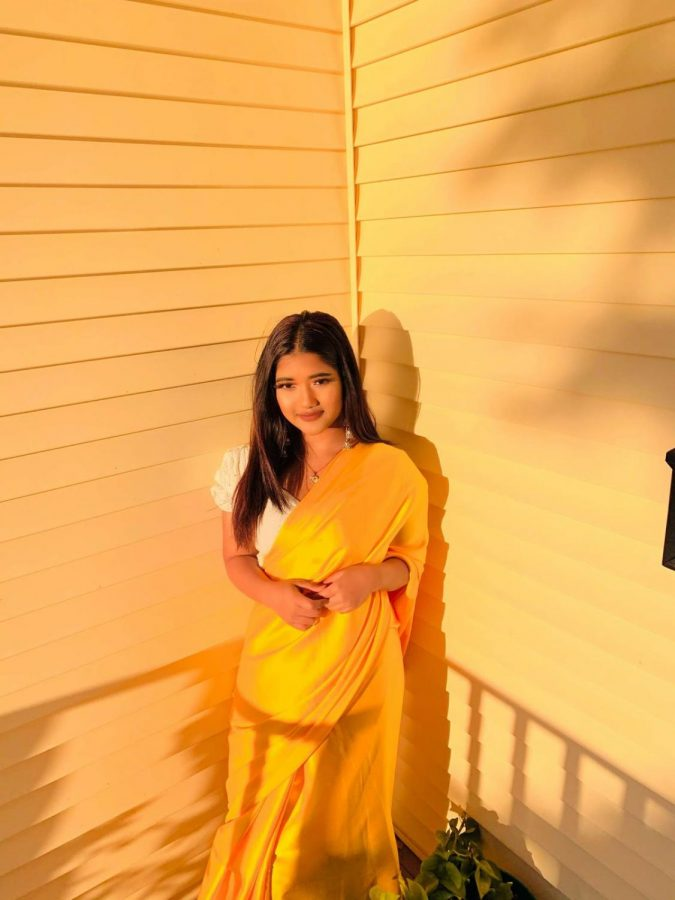 Ranjana Darjee in a typical Nepalese dress Photo credit:  Ranjana Darjee