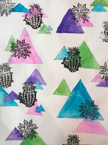 Watercolor and printing