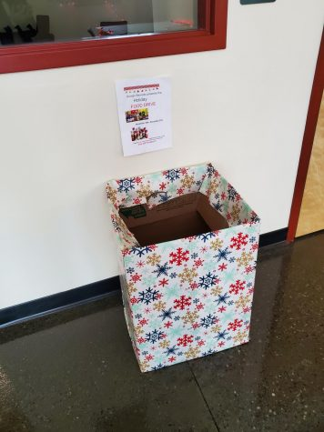 A donation box for the Human Services