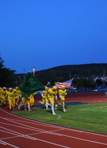 The BFA Football Team at a 2019 Homecoming Game. Photo Credit: Jennifer Parent
