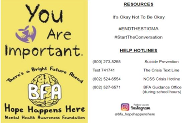 Mental Health Matters: How Hope Happens Here has Brought Awareness to BFA