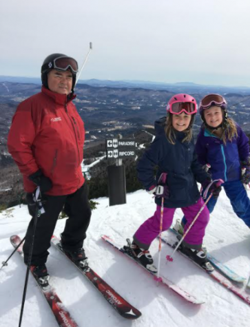 Robert Ide skiing with his granddaughters Photo Credit:  Robert Ide