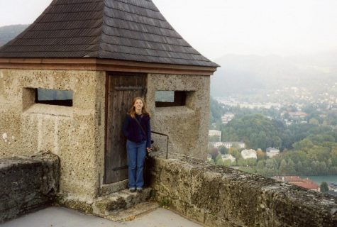 Larissa Hebert during her semester abroad at the University of Heidelberg, Germany at the Hohensalzburg Fortress in Salzburg, Austria. Photo Credit: Woodrow Thompson