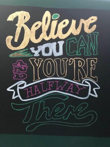 A motivational sign created as part of #whatsyour17bfa. Photo credit: Karla Kane