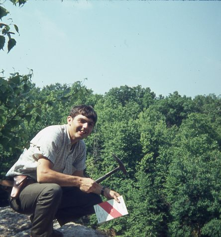 Woodrow Thompson mineral collecting in Connecticut in 1968. Photo credit: Woodrow Thompson