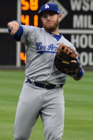 Max Muncy of the LA Dodgers Photo credit:  https://commons.wikimedia.org/wiki/File:Max_Muncy_LA_Dodgers_2018_(cropped).jpg