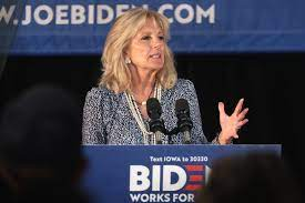 Photo credit:  https://commons.wikimedia.org/wiki/File:Jill_Biden_-_48244024572.jpg