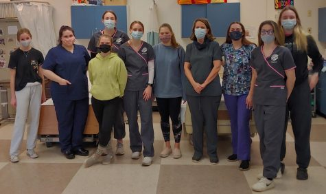 Medical Professions students (from left):  Anna Anderson (