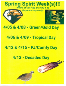 It's Time to Show Your School Spirit In BFA's Spring Spirit Week