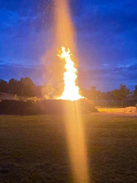 The bonfire at BFAs prom.  Photo credit:  Nate Archambault