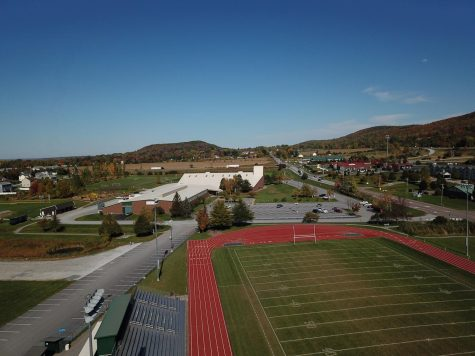 Aerial view of BFAs football field.  Photo credit: Dino Patsouris