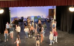 Cast rehearsing for Into The Woods.  Photo Credit: Susan Palmer