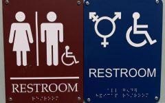 Outside a gender-neutral bathroom at BFA. Photo credit:  Brooke Holland